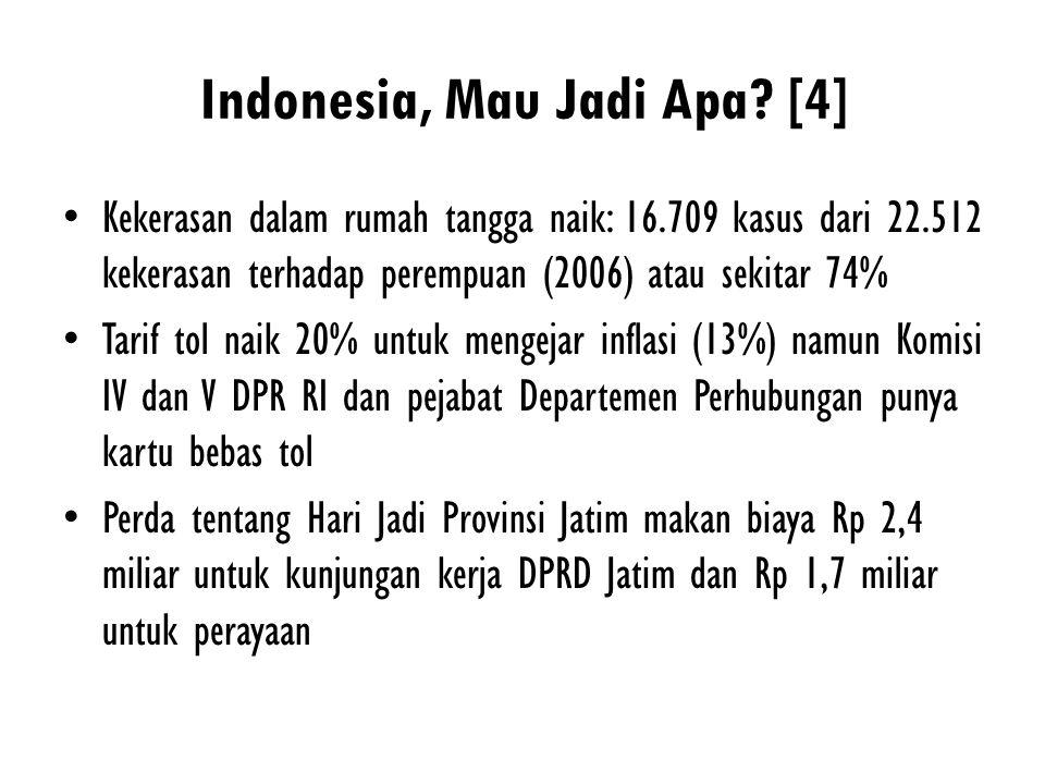 Indonesia, Mau Jadi Apa [4]